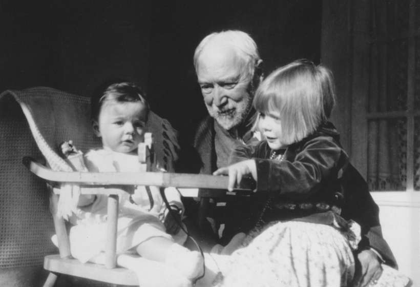 E.I. Couse with his grandchildren, Virginia and Irving. Virginia Couse Leavitt became a guiding force of the Couse Foundation.