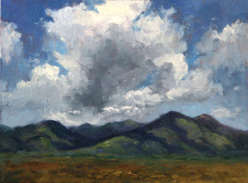 Lot 23 | C. S. Talley | Monsoon Season in Taos, 2019 | oil | 9x12 | donated by the artist | est. $1000-$1200
