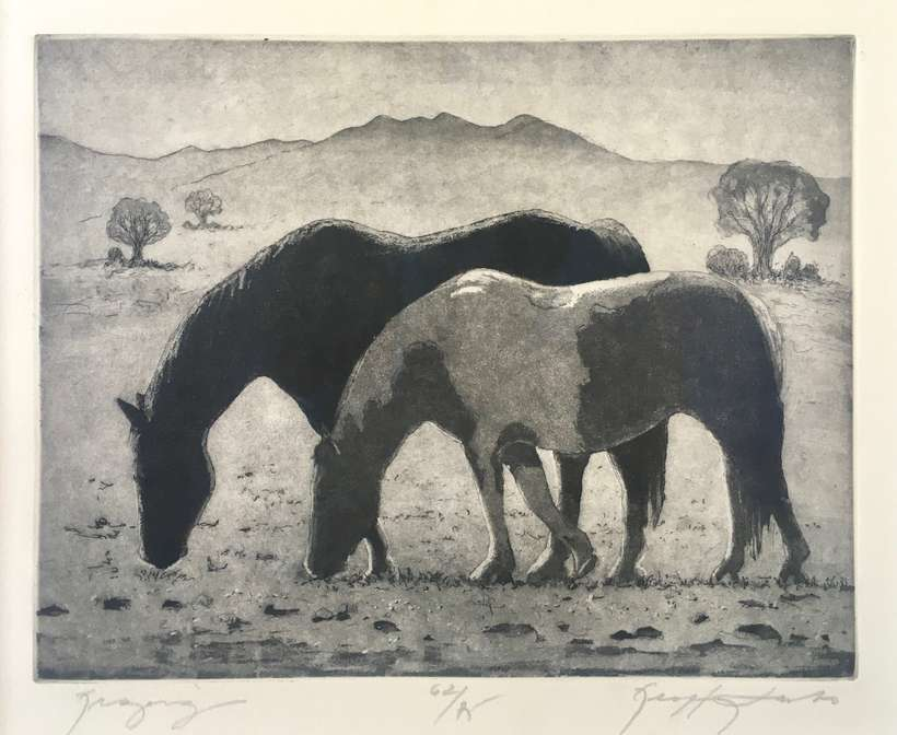Lot 37 | Geoffrey Lasko | Grazing | etching | 8x10 | donated by Susan Streeper | signed by the artist, numbered 62 | est. $500-$600