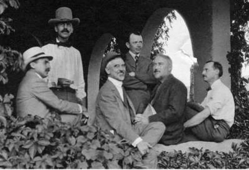 Founding members of the Taos Society of Artists (left to right): B.G. Phillips, W.H. Dunton, J.H. Sharp, O.E. Berninghaus, E.I. Couse and E.L. Blumenschein, 1915.