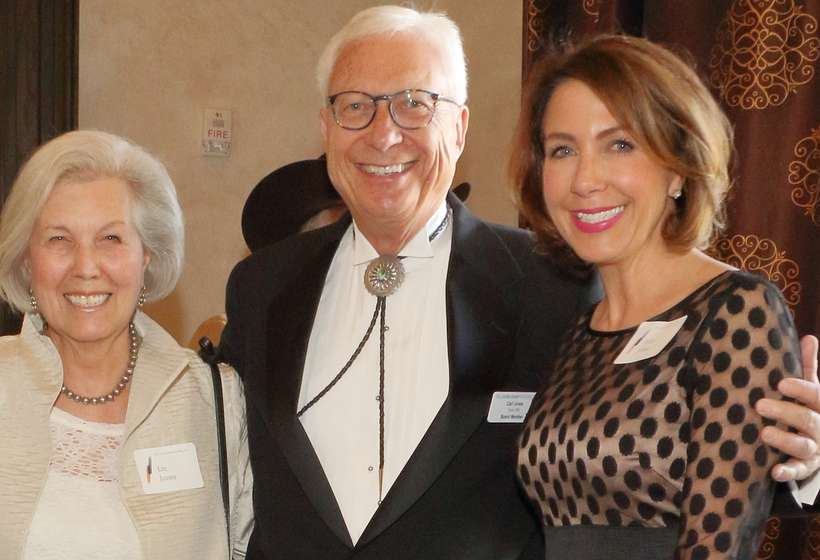 Then-board President Carl Jones with his wife, Lin, and daughter, Jolie, at the 2017 Gala. Carl is now chairman of the board.