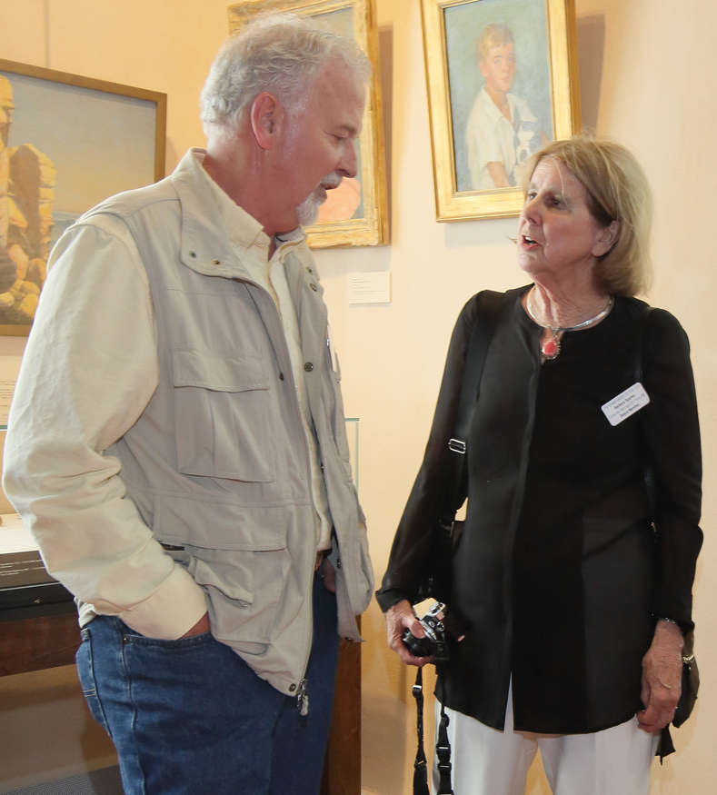 Founders Society member Erland Bergen and Board Member Barbara Sparks