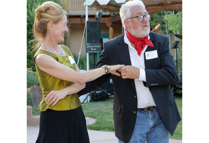 Robert and Sherry Parsons cut a proverbial rug. Parsons Fine Parsons Fine Art was a sponsor of the 2017 Gala and 2019 Gala.